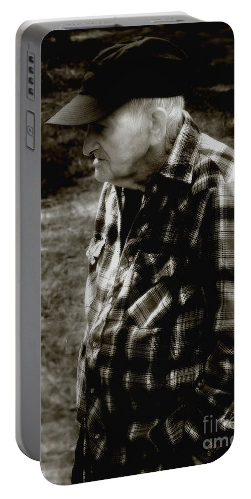 Farmer Portable Battery Charger featuring the photograph Remembering Hard Times by RC DeWinter
