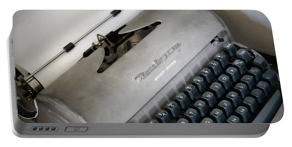 Typewriter Portable Battery Charger featuring the photograph Remington Quiet Riter by Cricket Hackmann