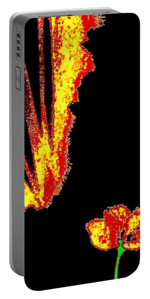 Abstract Portable Battery Charger featuring the digital art Reminiscence by Will Borden