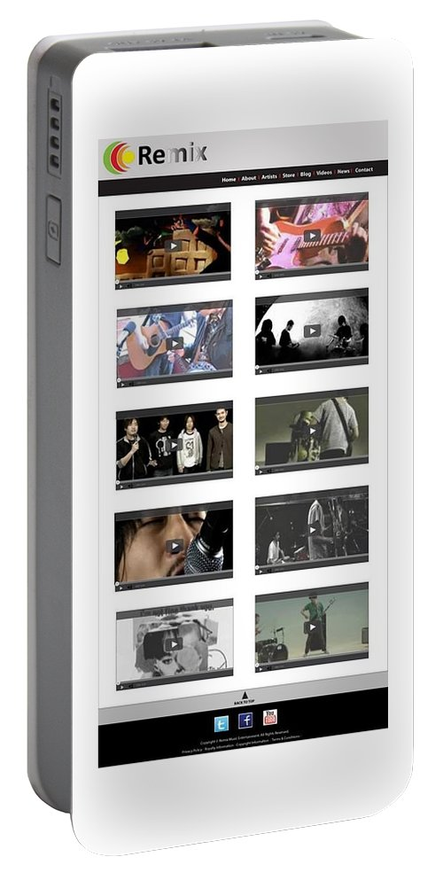 Website Design Samples Portable Battery Charger featuring the photograph Remix - Videos Page by Alex Art and Photo