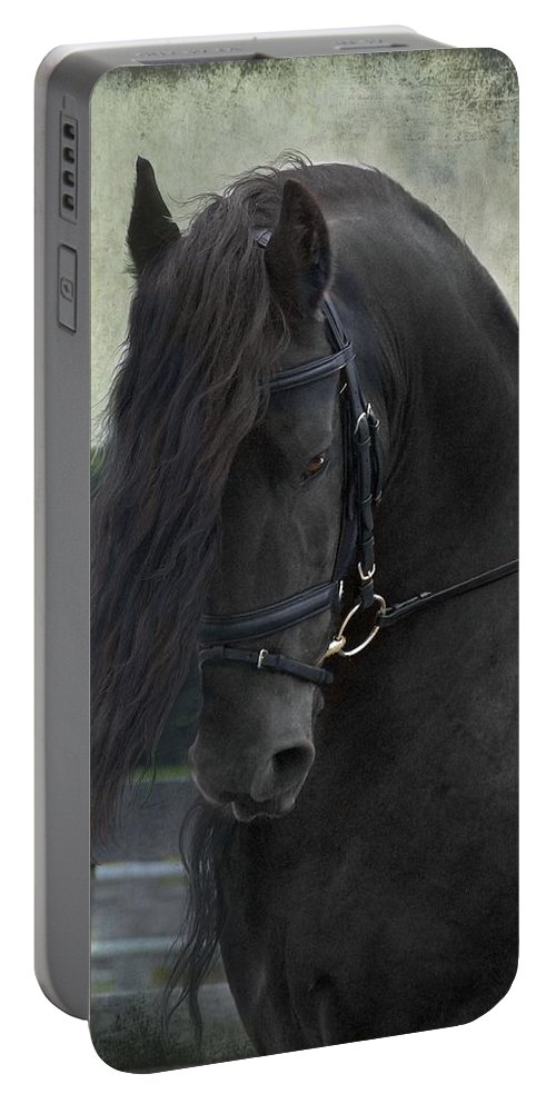 Horses Portable Battery Charger featuring the photograph Remme by Fran J Scott
