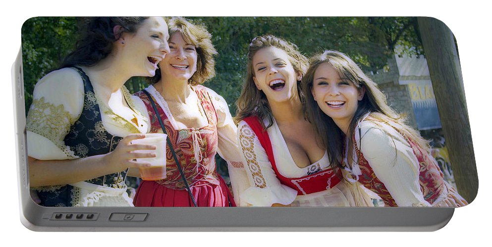 2d Portable Battery Charger featuring the photograph Renaissance Ladies by Brian Wallace