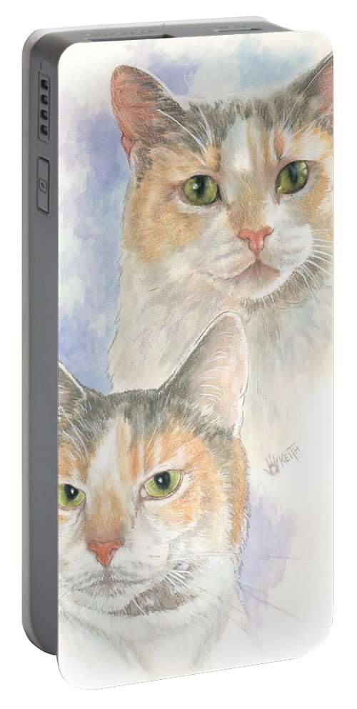Domestic Portable Battery Charger featuring the mixed media Reno by Barbara Keith