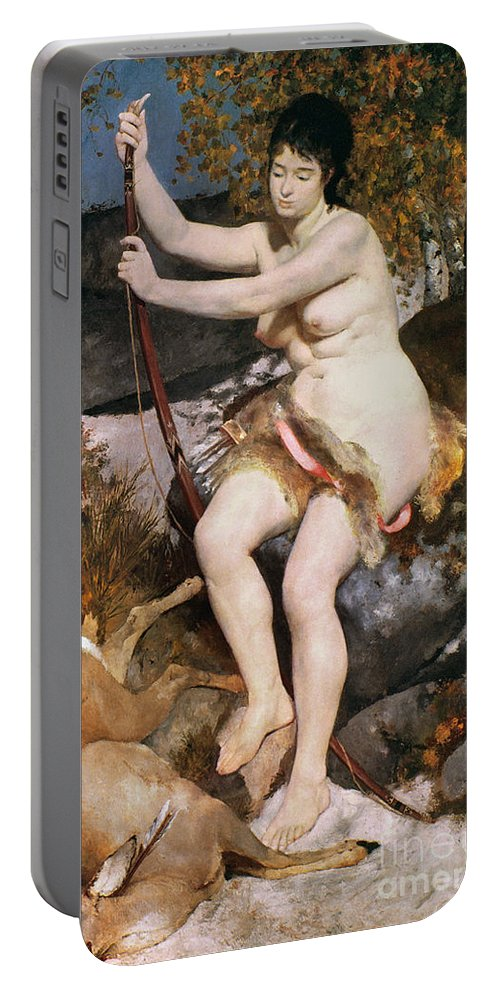 1867 Portable Battery Charger featuring the photograph Renoir: Diana by Granger
