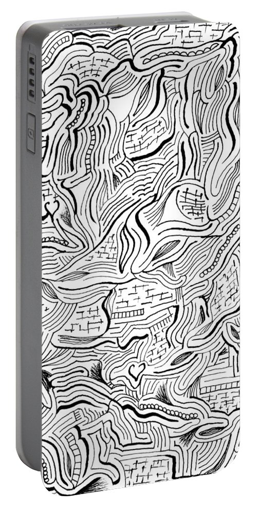 Mazes Portable Battery Charger featuring the drawing Renovation by Steven Natanson