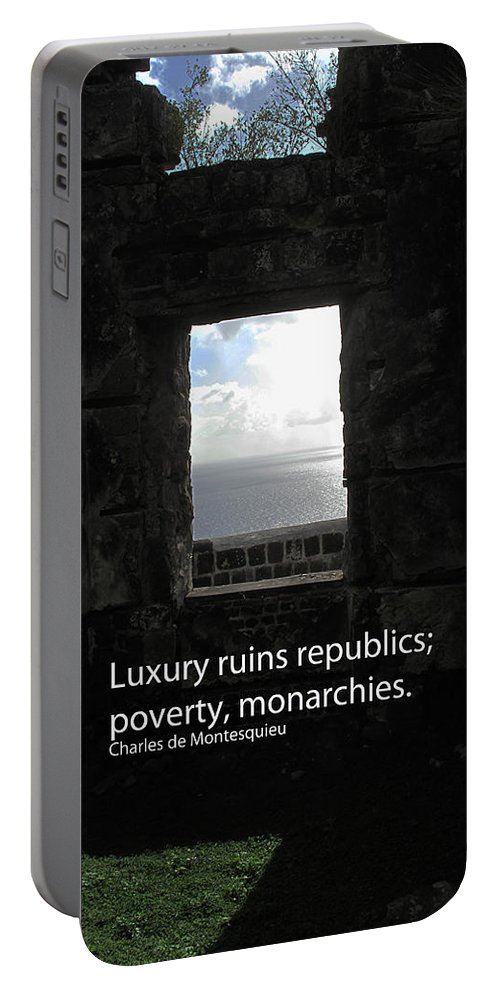 Luxury Portable Battery Charger featuring the photograph Republics And Monarchies by Ian MacDonald