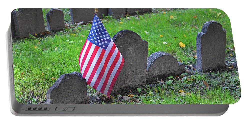 Cemetery Portable Battery Charger featuring the photograph Rest In Peace by Brittany Horton