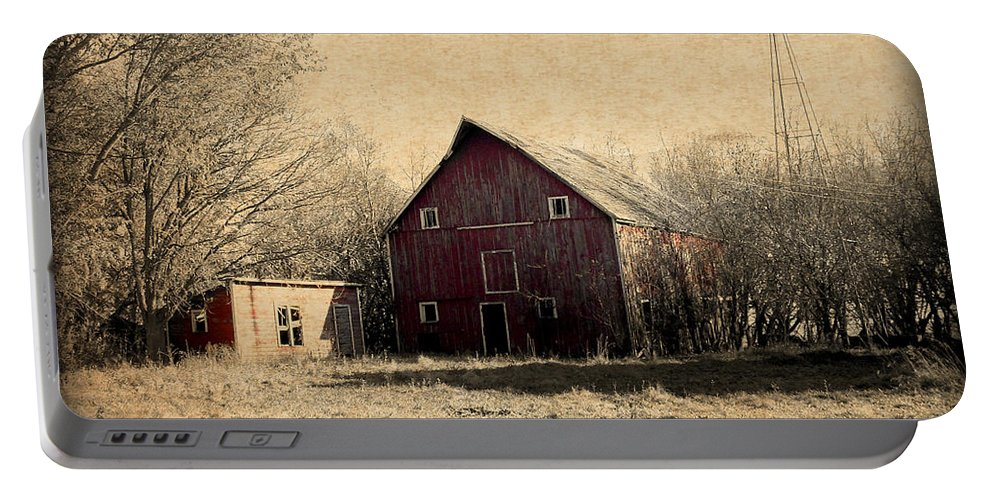Barn Portable Battery Charger featuring the photograph Retired 2 by Julie Hamilton