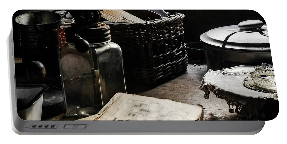 Relics From Rural Australia Series Images By Lexa Harpell Portable Battery Charger featuring the photograph Retired Kitchen Relics by Lexa Harpell
