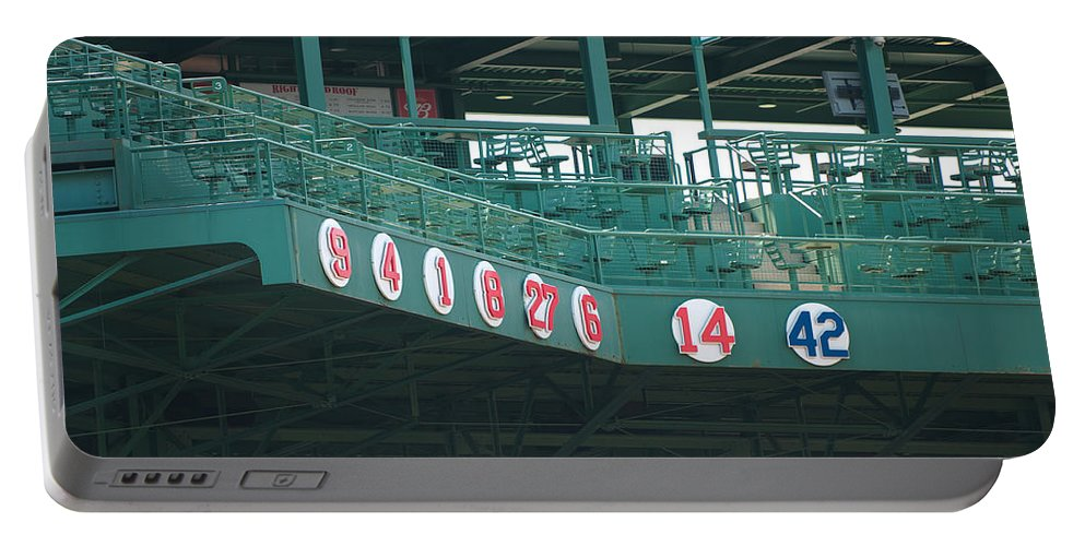 boston Red Sox Portable Battery Charger featuring the Retired Numbers by Paul Mangold