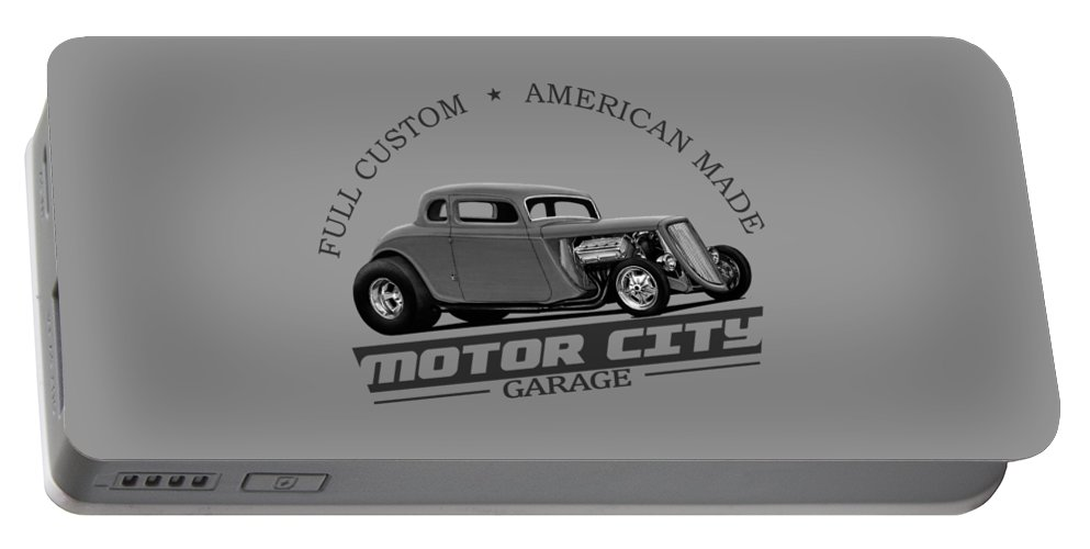 Retro Hot Rod Garage Portable Battery Charger