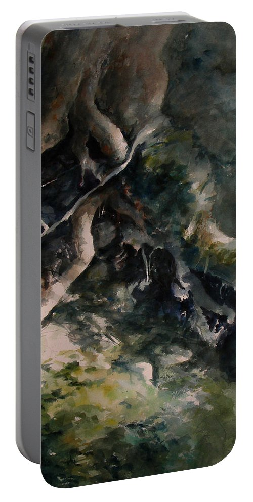 Nature Portable Battery Charger featuring the painting Revealed by William Russell Nowicki