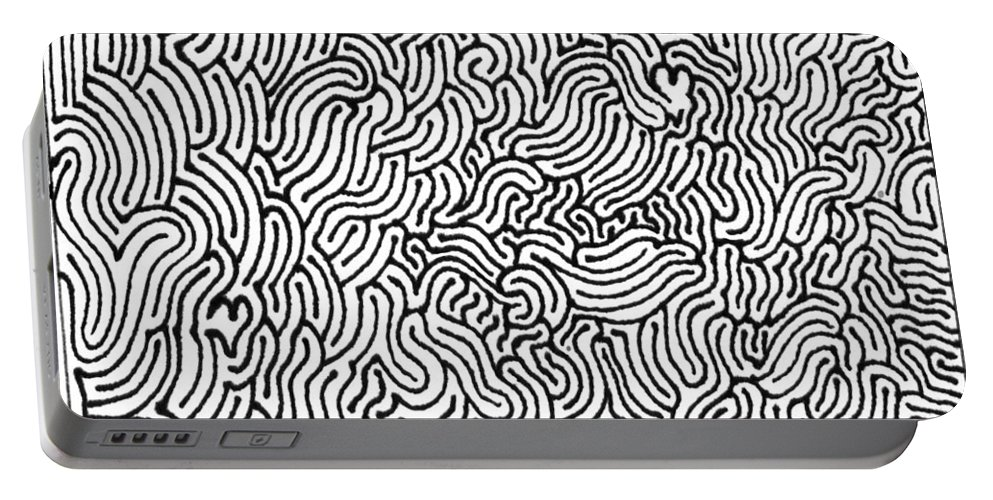 Mazes Portable Battery Charger featuring the drawing Revelation by Steven Natanson