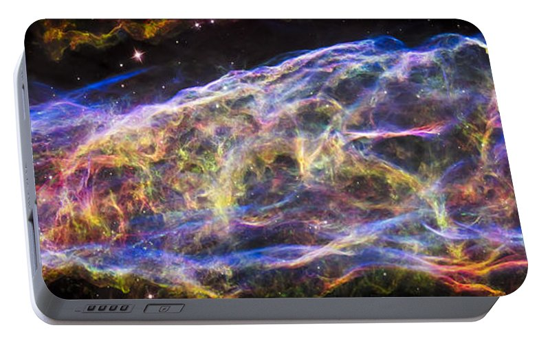 3scape Portable Battery Charger featuring the photograph Revisiting The Veil Nebula by Adam Romanowicz