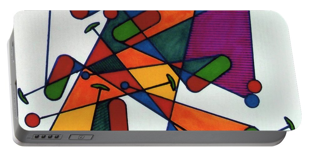 Rubics Cube Portable Battery Charger featuring the drawing Rfb0582 by Robert F Battles