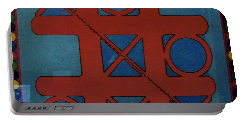 Tic-tac-toe Portable Battery Charger featuring the drawing Rfb0802 by Robert F Battles
