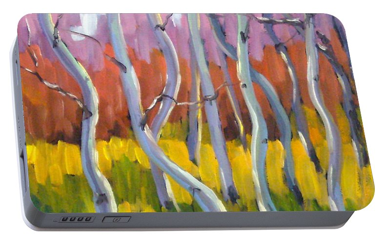 Art Portable Battery Charger featuring the painting Rhapsody No 5 by Richard T Pranke