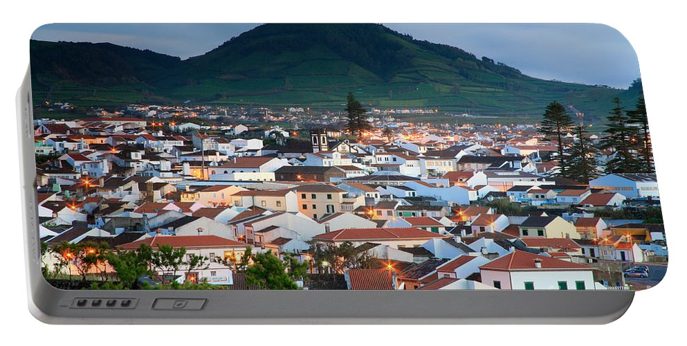 Europe Portable Battery Charger featuring the photograph Ribeira Grande At Nightfall by Gaspar Avila