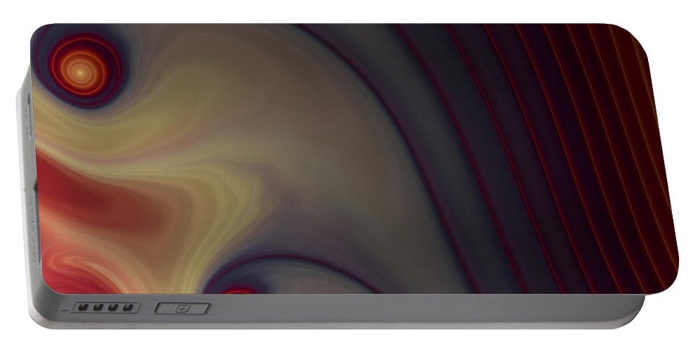 Apophysis Portable Battery Charger featuring the digital art Rich In Color by Amorina Ashton