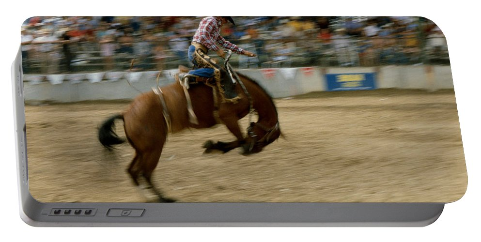 Rodeo Portable Battery Charger featuring the photograph Ridem Cowboy by Jerry McElroy
