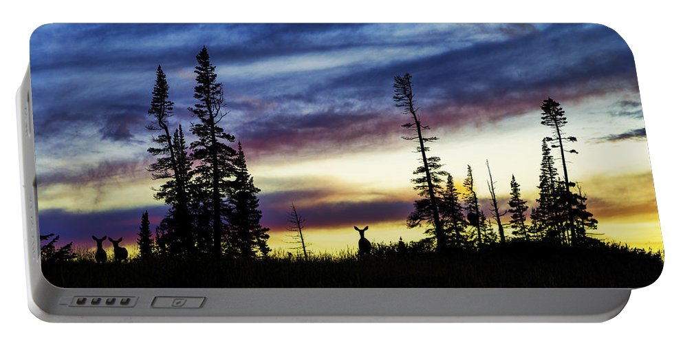 Ridge Silhouette Portable Battery Charger featuring the photograph Ridge Sihouette by Chad Dutson