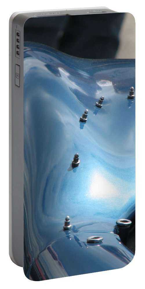 Shelby Portable Battery Charger featuring the photograph Riding The Surf by Kelly Mezzapelle