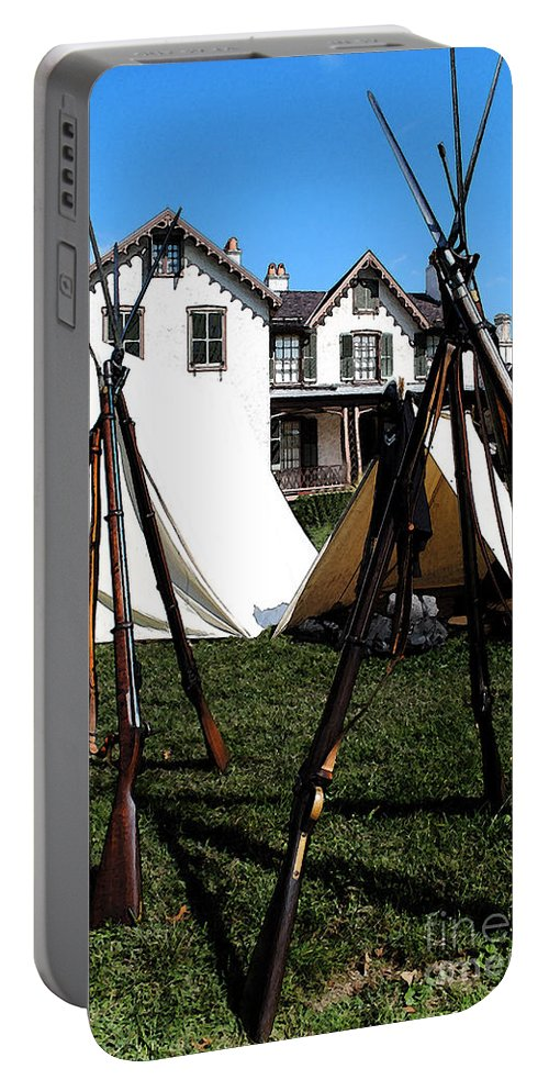 Lincoln Portable Battery Charger featuring the photograph Rifles Of The Civil War by Jost Houk