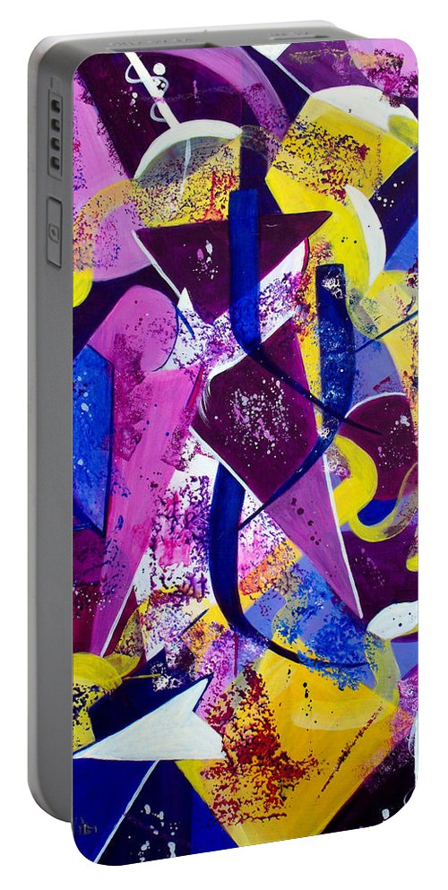 ruth Palmer Portable Battery Charger featuring the painting Right Of Passage by Ruth Palmer