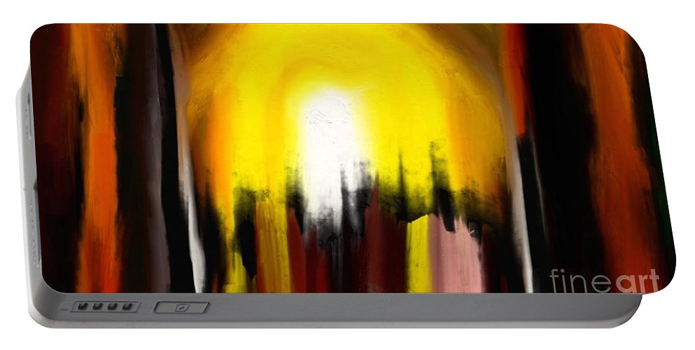 Digital Portable Battery Charger featuring the painting Right Way by Rushan Ruzaick