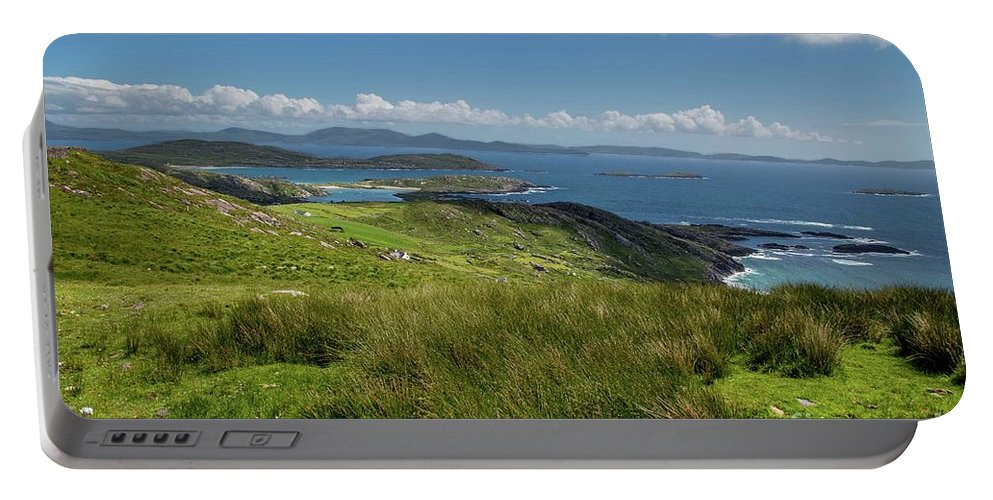 Coast Portable Battery Charger featuring the photograph Ring Of Kerry by Donna Barker