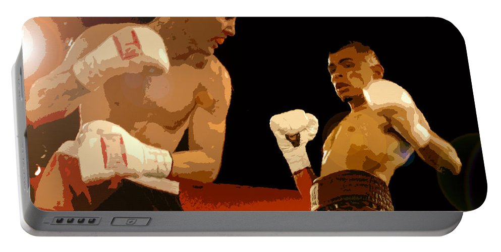 Art Portable Battery Charger featuring the painting Ringside by David Lee Thompson