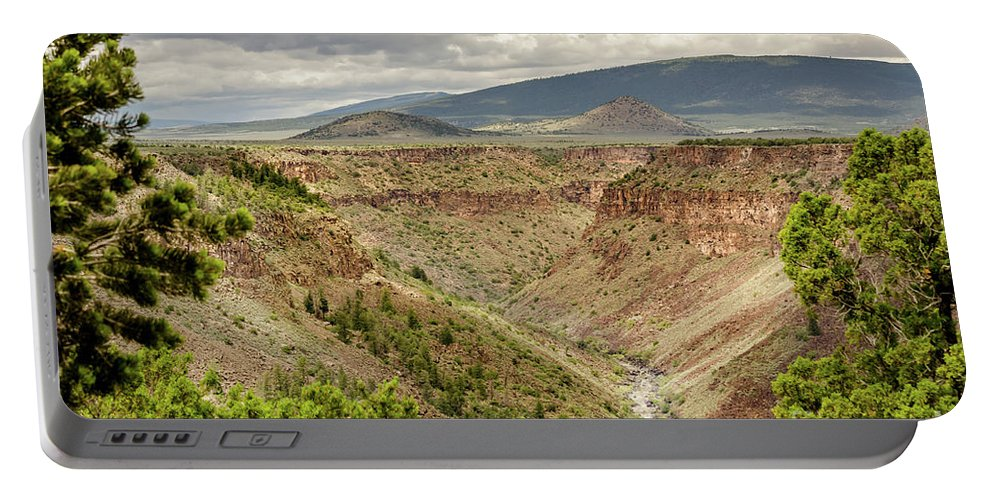 Rio Grande Gorge At Wild Rivers Recreation Area Portable Battery Charger featuring the photograph Rio Grande Gorge At Wild Rivers Recreation Area by Debra Martz