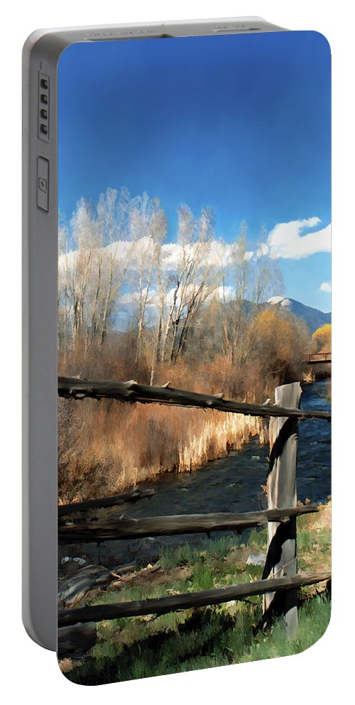 River Portable Battery Charger featuring the photograph Rio Pueblo by Kurt Van Wagner