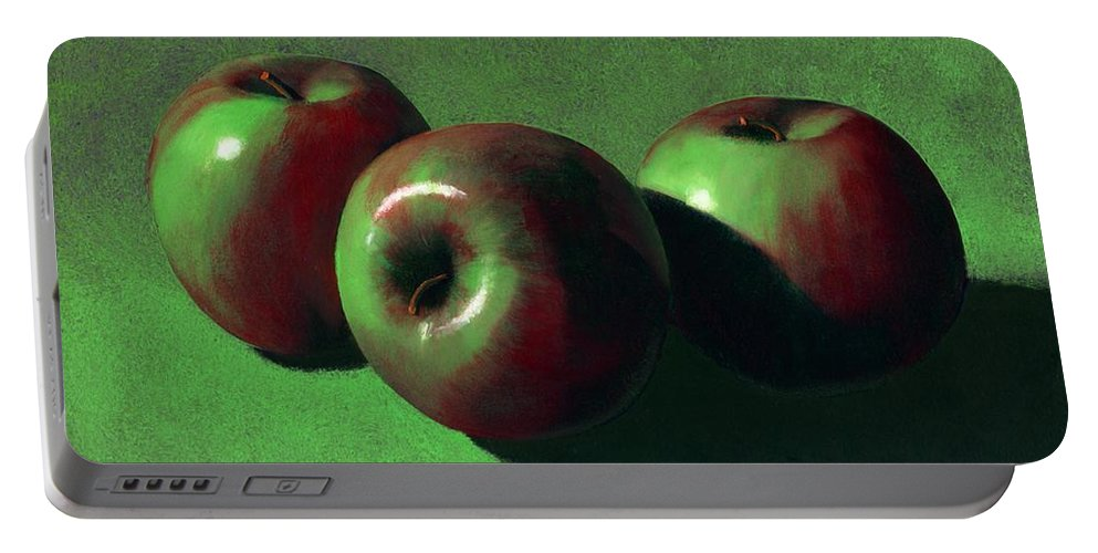 Still Life Portable Battery Charger featuring the painting Ripe Apples by Frank Wilson