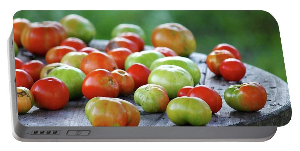 Tomatoes Portable Battery Charger featuring the photograph Ripening by Susan Ballard
