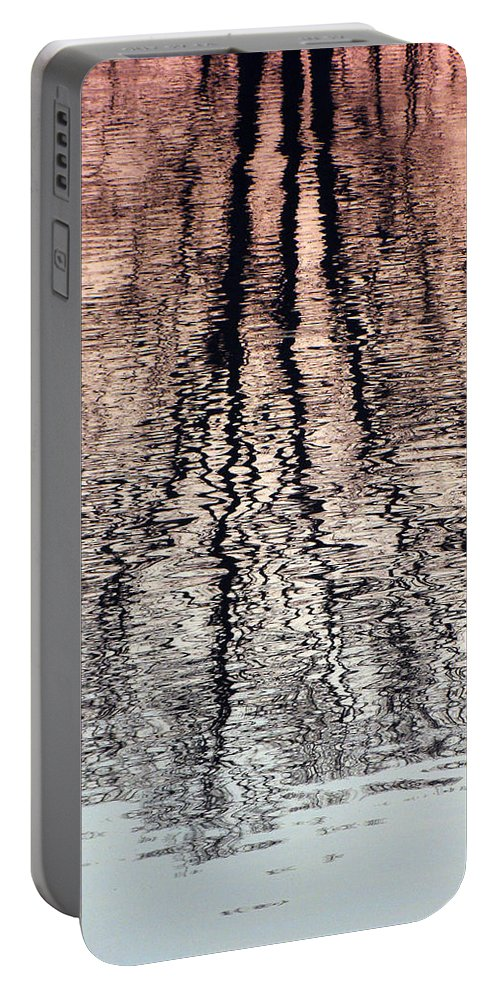 Waves Portable Battery Charger featuring the photograph Rippled Reflection by J R  Seymour