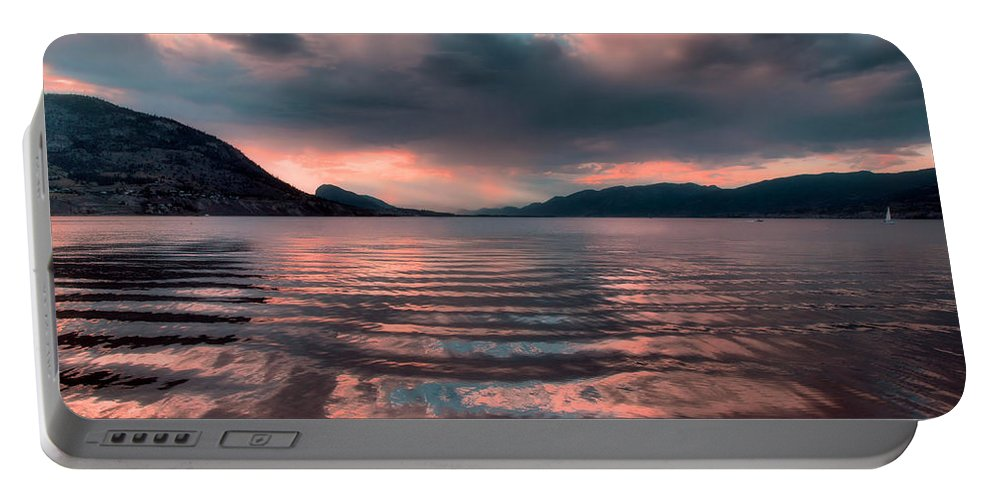 Lake Portable Battery Charger featuring the photograph Ripples And Reflections by Tara Turner