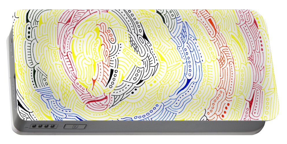 Mazes Portable Battery Charger featuring the drawing Ripples by Steven Natanson