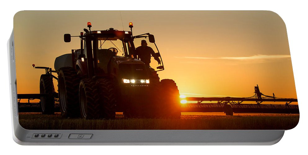 Agriculture Portable Battery Charger featuring the photograph Rise And Shine by Todd Klassy