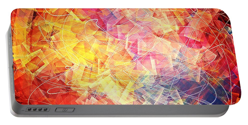 Easter Portable Battery Charger featuring the digital art Risen by Vidal Condicion