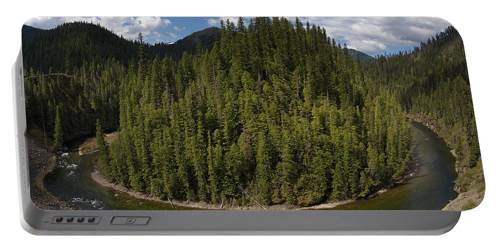 River Bend Portable Battery Charger featuring the photograph River Bend by Leland D Howard