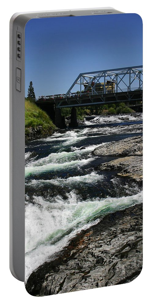 River Portable Battery Charger featuring the photograph River Bridge by Anthony Jones
