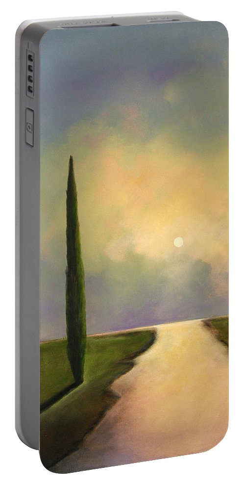 Trees Portable Battery Charger featuring the painting River Dreams by Toni Grote
