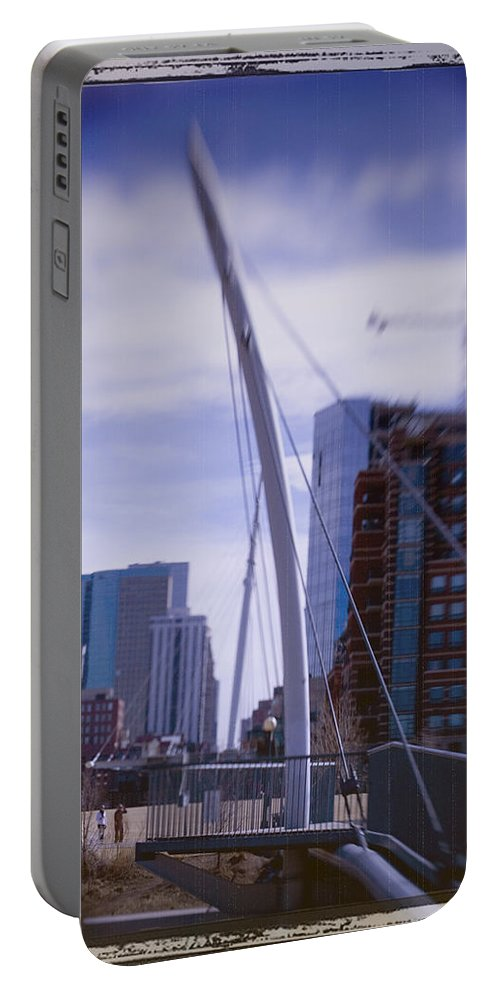 Denver Portable Battery Charger featuring the photograph River Front Park by Jeffery Ball