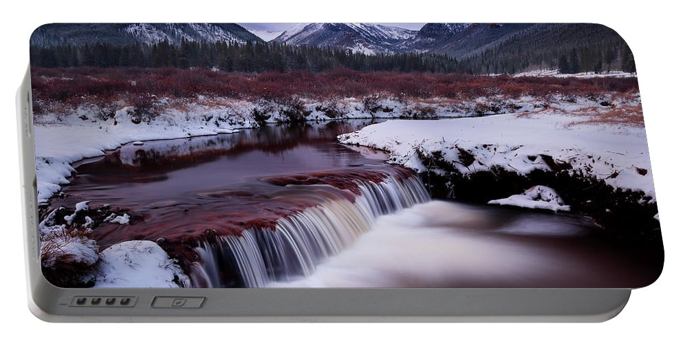 River Portable Battery Charger featuring the photograph River Of Glass by Brian Gustafson