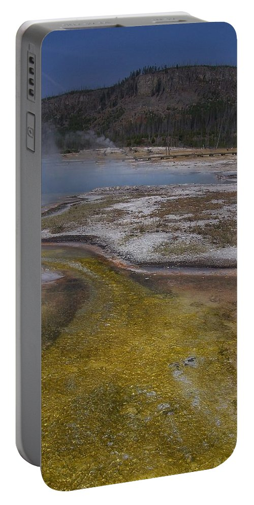 Geyser Portable Battery Charger featuring the photograph River of Gold by Gale Cochran-Smith