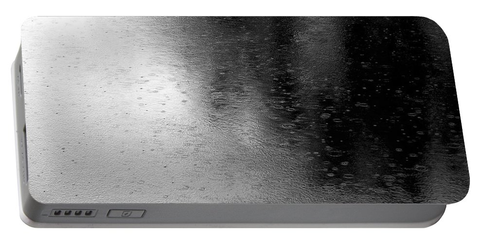 River Portable Battery Charger featuring the photograph River Rain Naperville Illinois by Michael Bessler