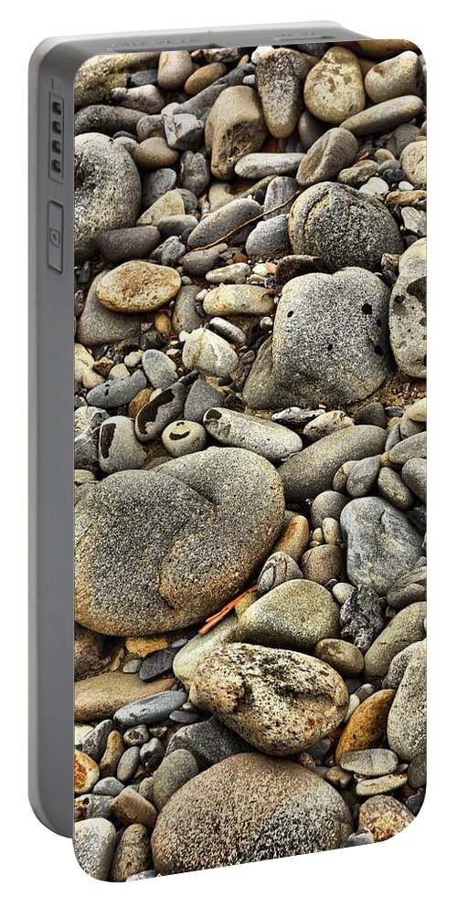 Portable Battery Charger featuring the photograph River Rock by Jason Brooks