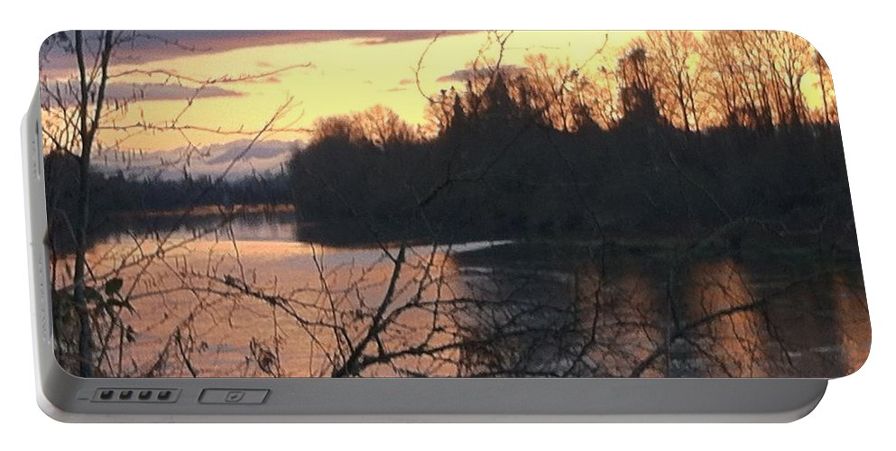 River Portable Battery Charger featuring the photograph River by Shari Chavira