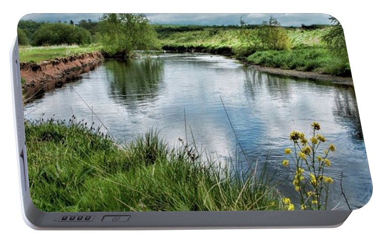 Nature_perfection Portable Battery Charger featuring the photograph River Tame, Rspb Middleton, North by John Edwards